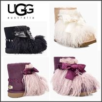 UGG Australia CLASSIC Casual Style Plain Bold Ankle & Booties Boots