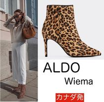 ALDO Leopard Patterns Leather Ankle & Booties Boots