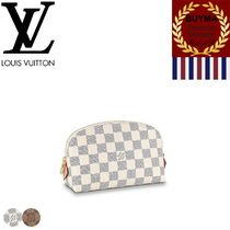 Louis Vuitton DAMIER Other Check Patterns Monogram Unisex Street Style Leather