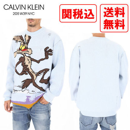 Calvin Klein Knits & Sweaters Wool Street Style Long Sleeves Knits & Sweaters