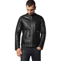 DIESEL Short Street Style Plain Leather Biker Jackets