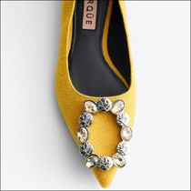 Uterque With Jewels Ballet Shoes