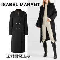 Isabel Marant Wool Plain Long Elegant Style Coats