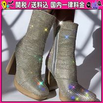 DOLLS KILL Round Toe Casual Style Block Heels Ankle & Booties Boots