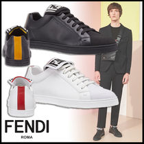 FENDI Monogram Leather Sneakers