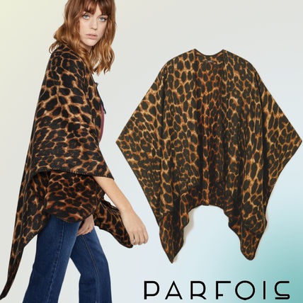 Leopard Patterns Casual Style Shirts & Blouses