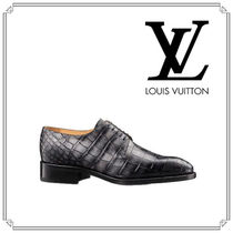 Louis Vuitton Plain Toe Other Animal Patterns Leather Oxfords