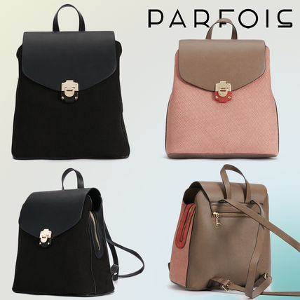 Casual Style Faux Fur Blended Fabrics Backpacks