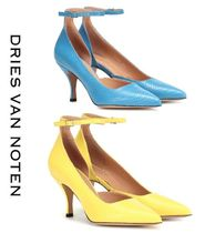 Dries Van Noten Blended Fabrics Other Animal Patterns Leather Pin Heels