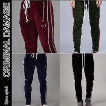 CRIMINAL DAMAGE Stripes Street Style Joggers & Sweatpants