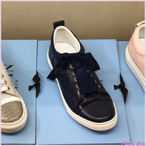 LANVIN Round Toe Casual Style Plain Low-Top Sneakers