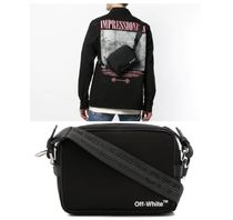 Off-White Unisex Street Style Messenger & Shoulder Bags