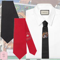 GUCCI Silk Plain Other Animal Patterns Ties