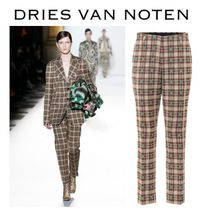 Dries Van Noten Gingham Glen Patterns Casual Style Cotton Long