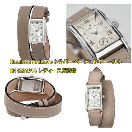 Casual Style Leather Square Quartz Watches Analog Watches