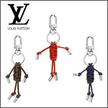 Louis Vuitton Blended Fabrics Leather Keychains & Holders