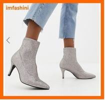 ASOS Casual Style Plain Pin Heels Ankle & Booties Boots