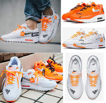 Nike AIR MAX 1 Blended Fabrics Street Style Leather Sneakers