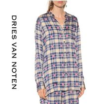 Dries Van Noten Gingham Glen Patterns Casual Style Long Shirts & Blouses