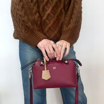 FENDI BY THE WAY 2WAY Plain Leather Elegant Style Shoulder Bags