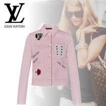 Louis Vuitton Short Casual Style Street Style Plain Jackets