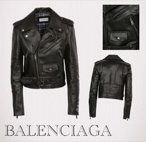 BALENCIAGA Short Leather Biker Jackets