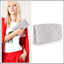 SKINNYDIP Bag in Bag 2WAY Chain Plain Party Style With Jewels Clutches