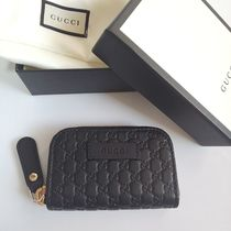 GUCCI Plain Leather Keychains & Holders
