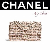 CHANEL ICON Blended Fabrics 2WAY Bi-color Chain Elegant Style