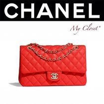 CHANEL MATELASSE Calfskin 2WAY Chain Plain Handmade Elegant Style Handbags