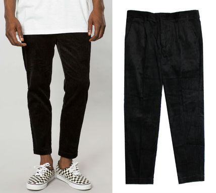 Stripes Corduroy Street Style Plain Cropped Pants