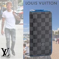 Louis Vuitton DAMIER GRAPHITE VASCO WALLET Leather Long Wallets