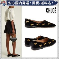 Chloe Casual Style Velvet Other Animal Patterns Flats