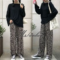 Leopard Patterns Casual Style Long Pants