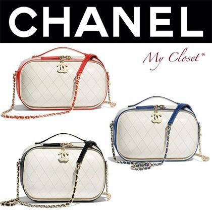 CHANEL Shoulder Bags Casual Style Calfskin Street Style Vanity Bags 2WAY Chain