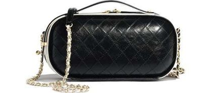 CHANEL Shoulder Bags Casual Style Calfskin Street Style Vanity Bags 2WAY Chain 8