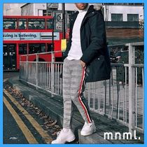 MNML Tapered Pants Stripes Street Style Tapered Pants
