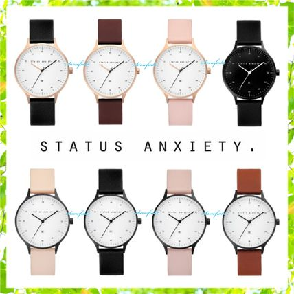 Casual Style Unisex Leather Analog Watches