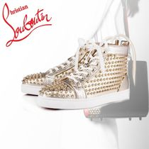 Christian Louboutin LOUIS Casual Style Street Style Plain Leather Low-Top Sneakers