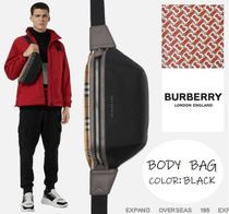 Burberry Other Check Patterns Unisex Nylon Street Style