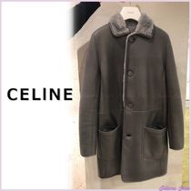 CELINE Fur Plain Medium Shearling Cashmere & Fur Coats