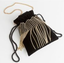 & Other Stories 2WAY Chain Plain Party Style Purses With Jewels Party Bags