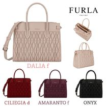 FURLA 2WAY Plain Office Style Totes