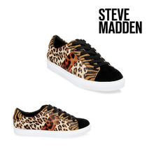 Steve Madden Leopard Patterns Other Animal Patterns Leather Sneakers