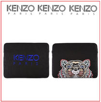 KENZO Unisex Canvas Street Style Plain Wallets & Small Goods