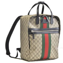 GUCCI Unisex PVC Clothing Elegant Style Backpacks