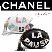 CHANEL ICON Lambskin Studded Street Style 2WAY Bi-color Chain