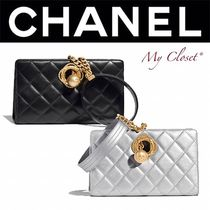 CHANEL MATELASSE Lambskin Street Style Chain Plain Party Style With Jewels