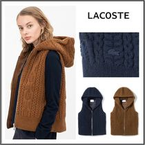 LACOSTE Casual Style Wool Vest Cardigans
