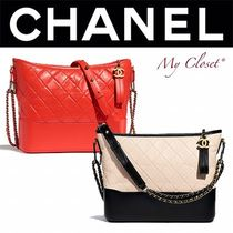 CHANEL MATELASSE Casual Style Calfskin Studded Street Style 2WAY Bi-color